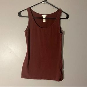 H&M Basic Maroon Fitted Tank Top Sz S